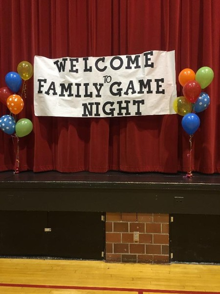 Banner saying Welcome to Family Game Night
